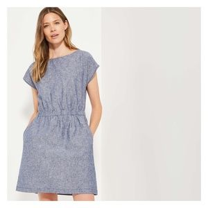 Joe Fresh blue linen blend dress size medium